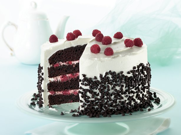 Raspberry-Fudge Fantasy Torte