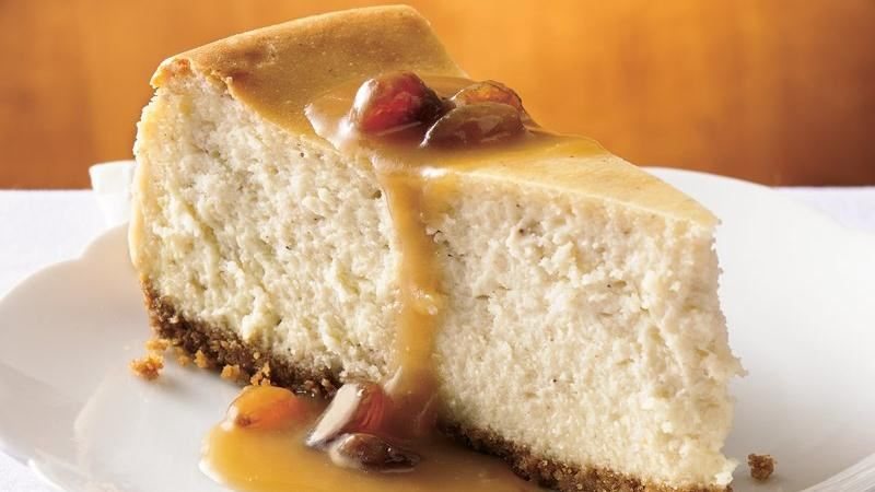 Hot Buttered Rum Cheesecake with Brown Sugar-Rum Sauce recipe from ...
