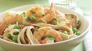 Healthified Lemon Shrimp Fettuccine
