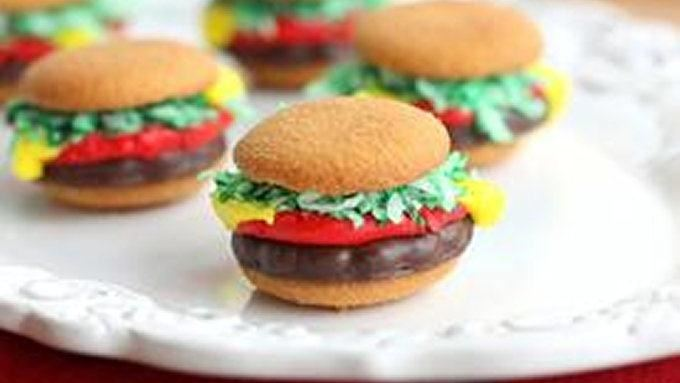 Mini Burger Cookies Recipe From Tablespoon
