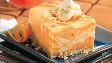 Creamy Frozen Orange Squares Recipe