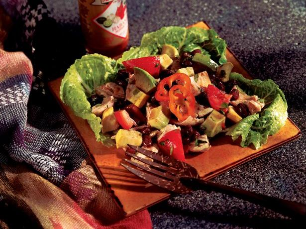 Caribbean Chicken and Black Bean Salad 