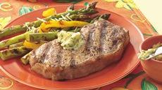 Pepper-Garlic Strip Steaks Recipe