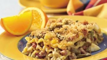 Havarti Ham and Egg Lasagna