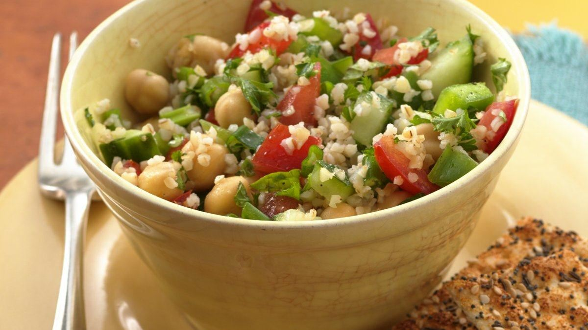 tabbouleh with garbanzo beans life made delicious. Black Bedroom Furniture Sets. Home Design Ideas