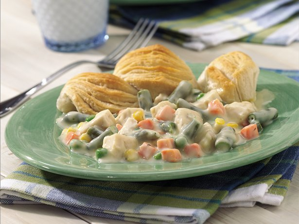 Biscuit-Topped Chicken and Vegetable Bake