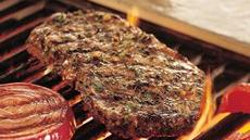 Grilled Herb-Crusted Top Loin Steaks Recipe