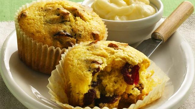 Cranberry-Cornmeal Muffins