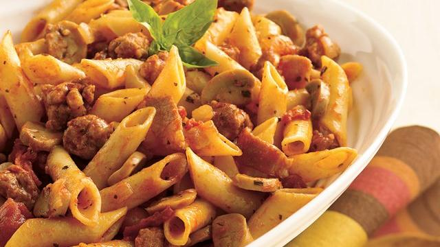 Meaty Mostaccioli