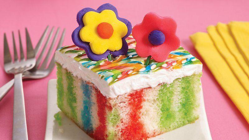 Tie Dye Poke Cake