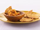 Red Pepper Hummus with Pita Chips
