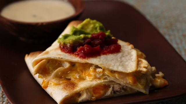 Green Chiles Chicken Quesadillas 