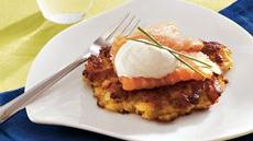 Potato Cakes with Smoked Salmon Recipe