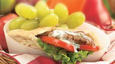 Grilled Turkey-Stuffed Pita Sandwiches Recipe