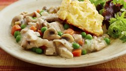 Gluten Free Cheddar Biscuit Chicken Pot Pie