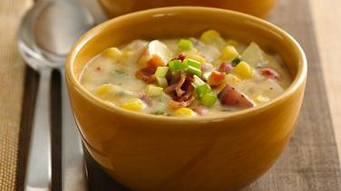 Southwest Potato Corn Chowder (Cooking for Two)