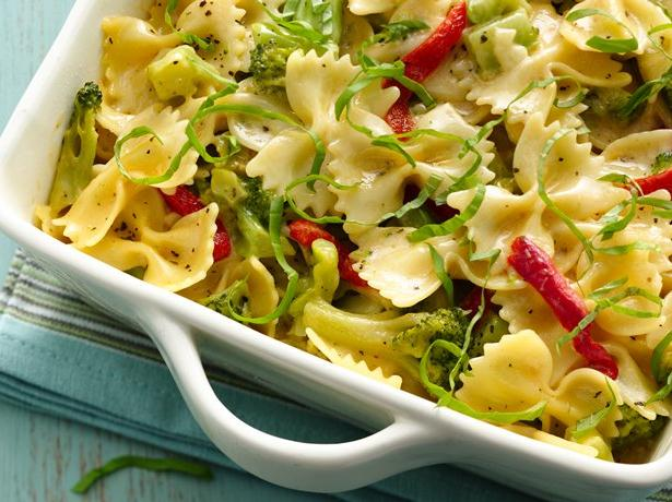Cheesy Bow Ties and Broccoli Alfredo
