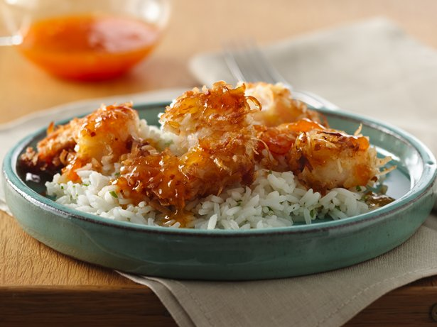 Skillet Coconut Shrimp with Apricot Sauce