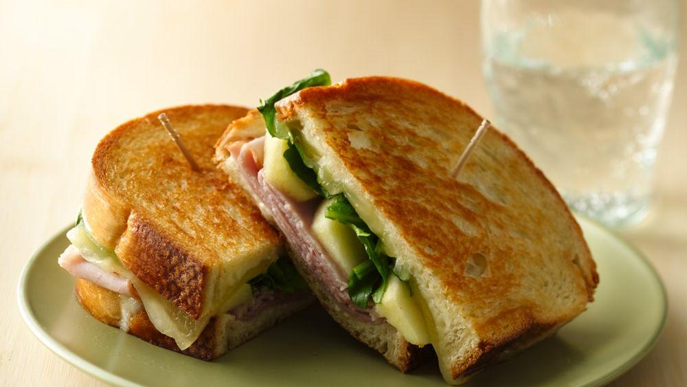 Grilled Ham, Cheese and Apple Sandwiches recipe from Pillsbury.com