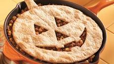 Jack-o'-Lantern Sloppy Joe Pie Recipe