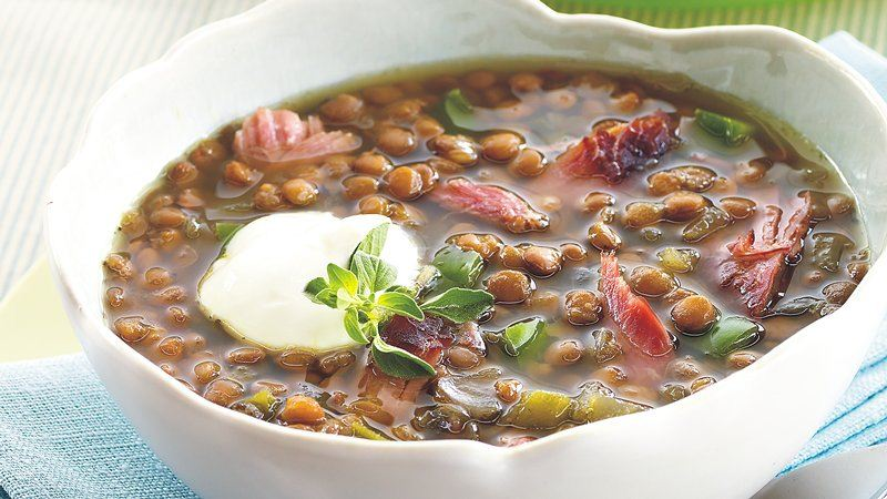 Slow-Cooker Smoked Turkey-Lentil Soup