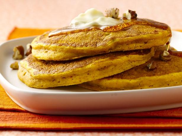 Candied Ginger Pumpkin Pancakes