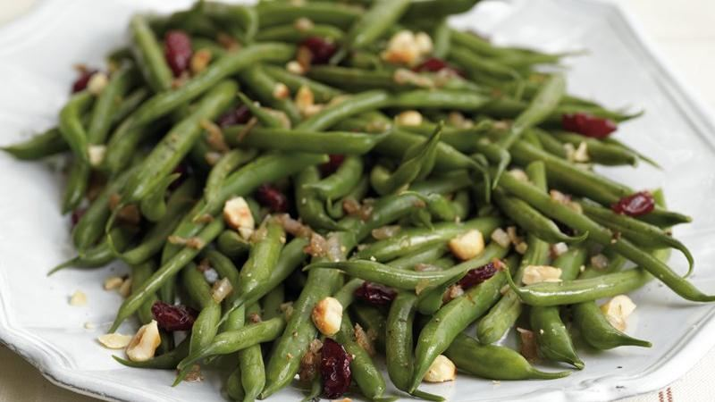 Cranberry-Hazelnut Green Beans