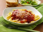 Slow Cooker Chicken Parmesan with Penne Pasta