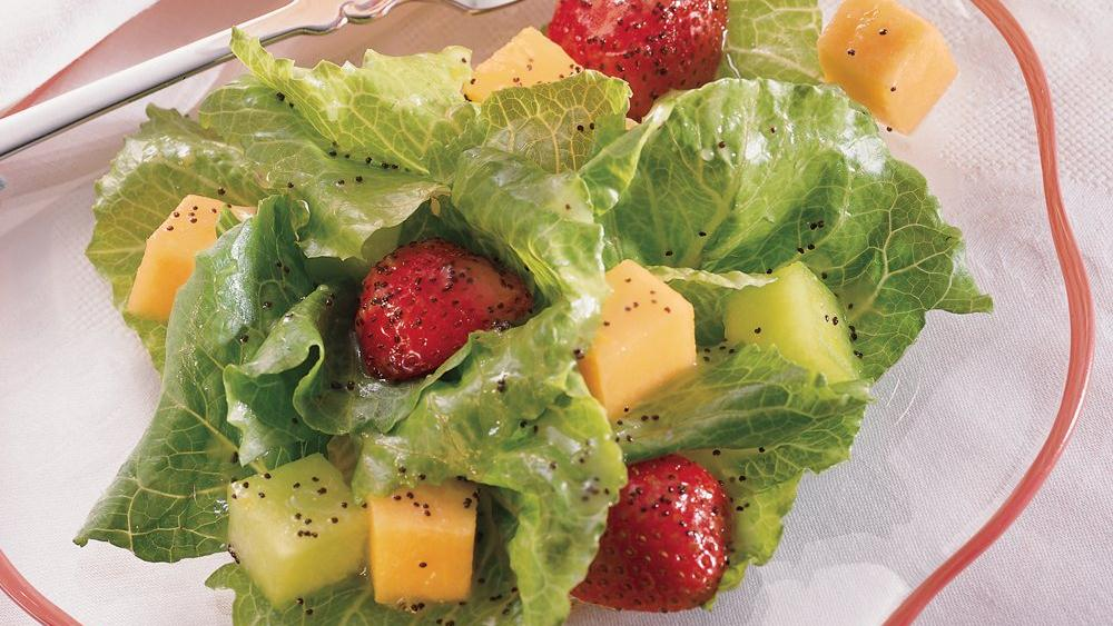 Romaine and Fruit Salad with Citrus Poppy Seed Vinaigrette recipe from ...