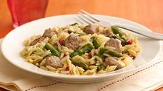 Asparagus and Turkey Sausage Skillet  Recipe