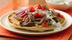 Slow Cooker Shredded Turkey Gyros Recipe