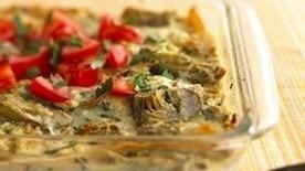 Healthified Creamy Ricotta-Artichoke Lasagna