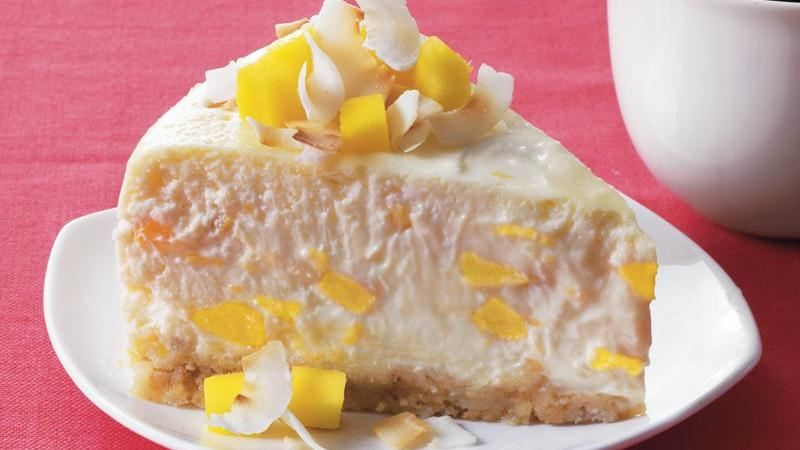 Mango Coconut Cheesecake