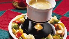 Cheese Fondue With Roasted Vegetable Dippers Recipe