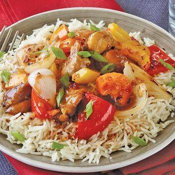Asian Chicken Rice Bowls recipe from Betty Crocker
