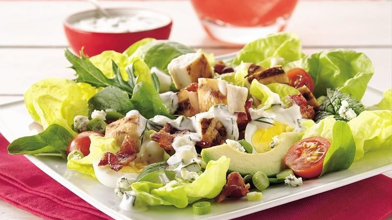 Cobb Salad with Cucumber-Ranch  Ranch Dressing Salad