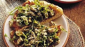 Open-Faced Chicken and Pesto Sandwich Recipe