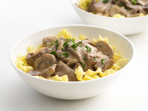 Healthified Beef Stroganoff
