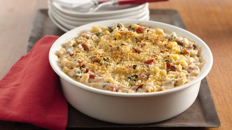 Bacon, Kale and Tomato Mac and Cheese recipe from Betty Crocker