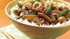Chicken, Mushroom and Asparagus Stir-Fry Recipe