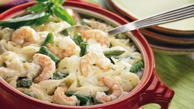 Image of Asparagus, Shrimp And Shells Bake, Pillsbury
