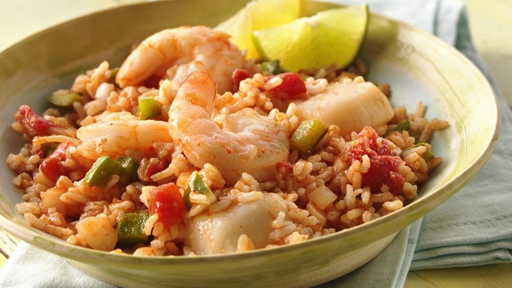 Grilled Seafood Jambalaya Packets