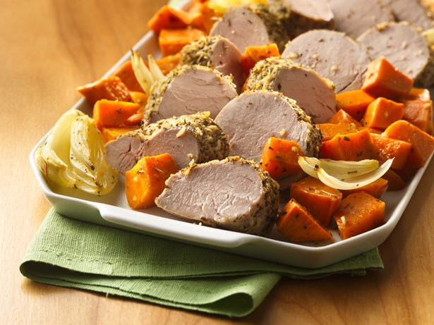Italian Pork Tenderloin with Roasted Sweet Potatoes