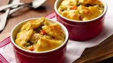 Alfredo Chicken Pot Puff Pies Recipe