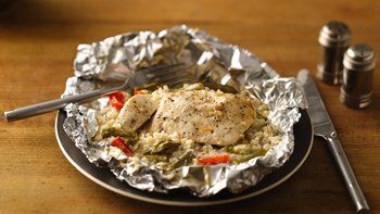 Creamy Chicken-Parmesan Dinner Packets