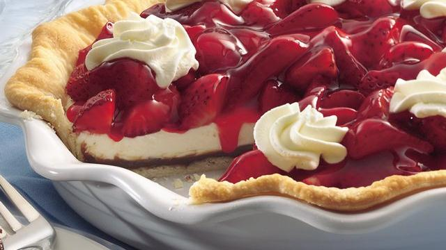 Black Bottom Strawberry Cream Pie