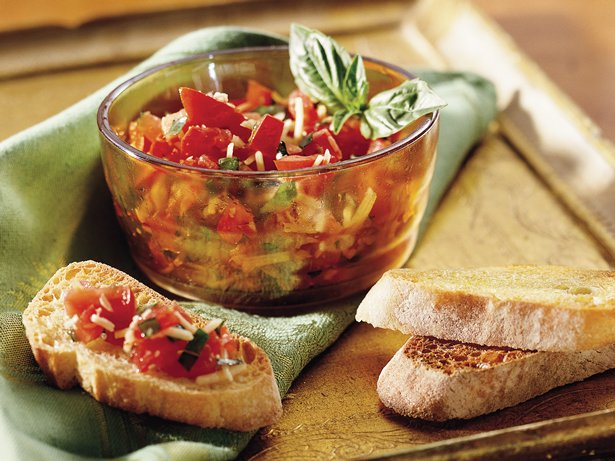 Tomato Basil Crostini recipe from Betty Crocker