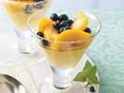 Blueberry- and Peach-Topped Ginger Pudding