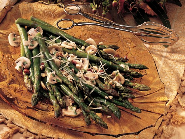 Hazelnut Parmesan Asparagus