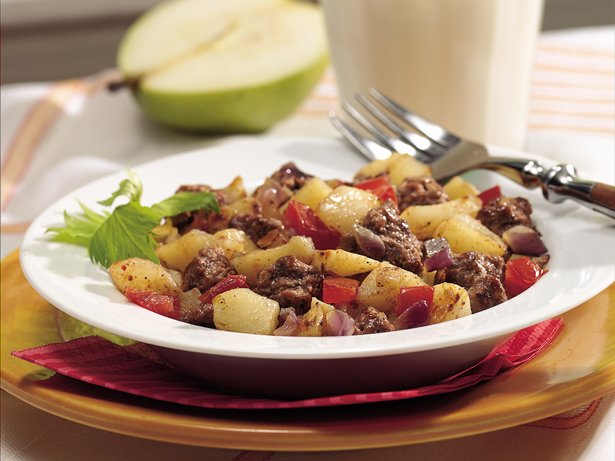 Hamburger Hash Skillet Supper recipe from Betty Crocker